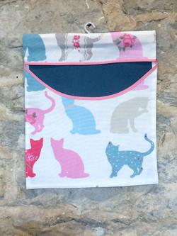 Pastel Coloured Cat Peg Bag