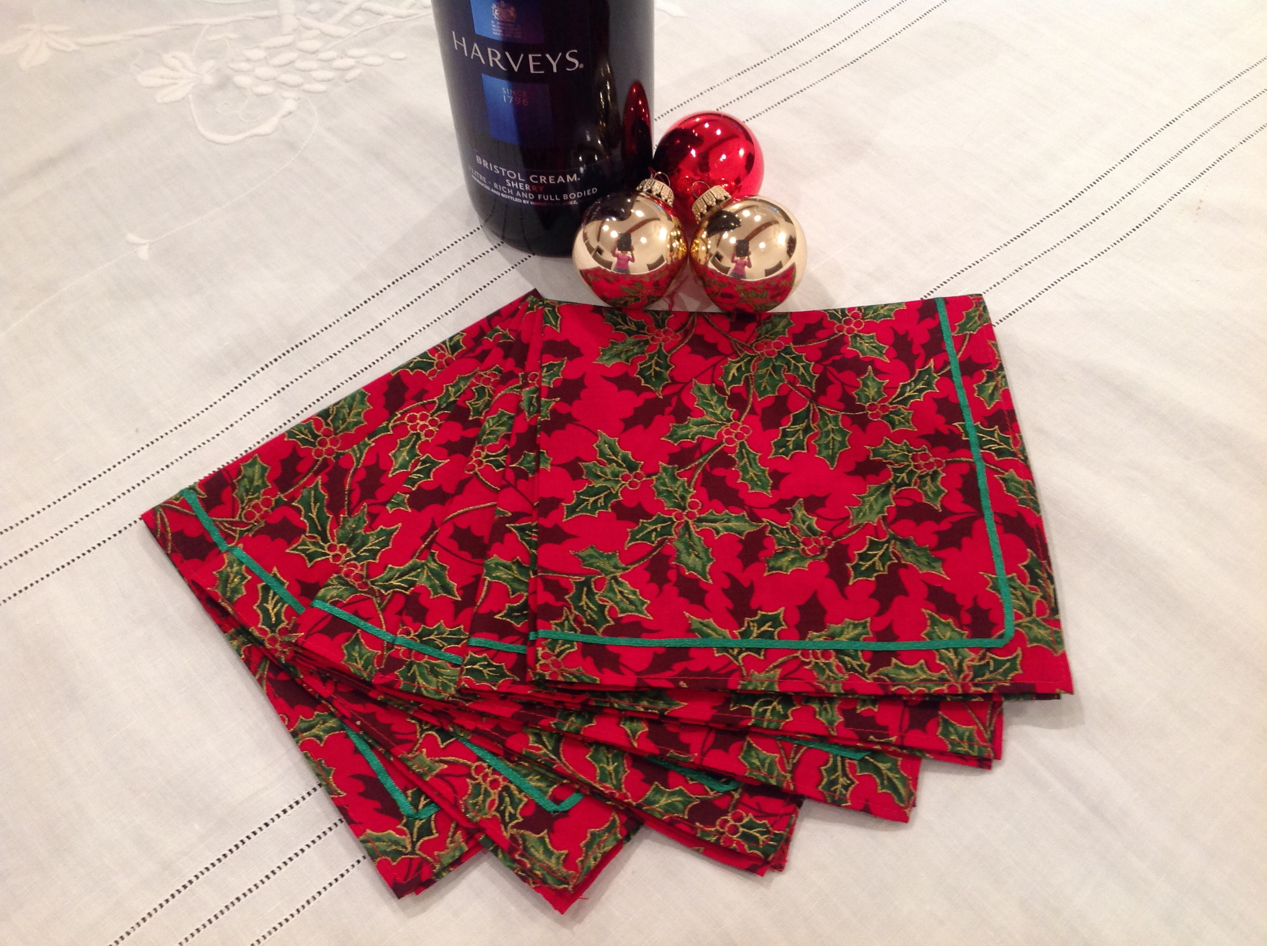 Christmas Holly Napkins