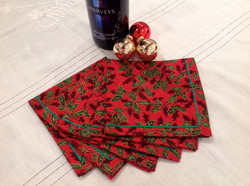 Christmas Holly Napkins