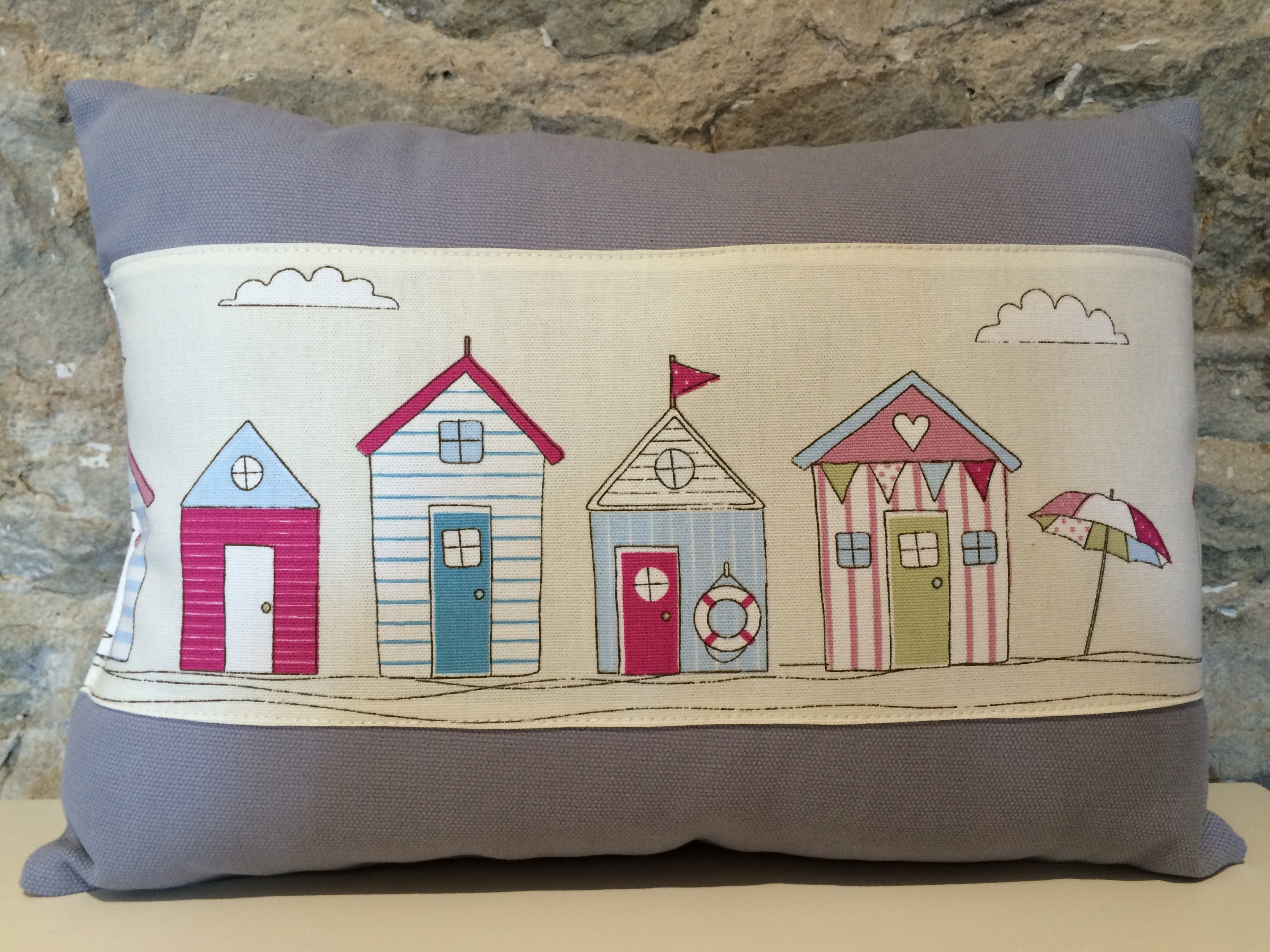 Beach Hut Cushion