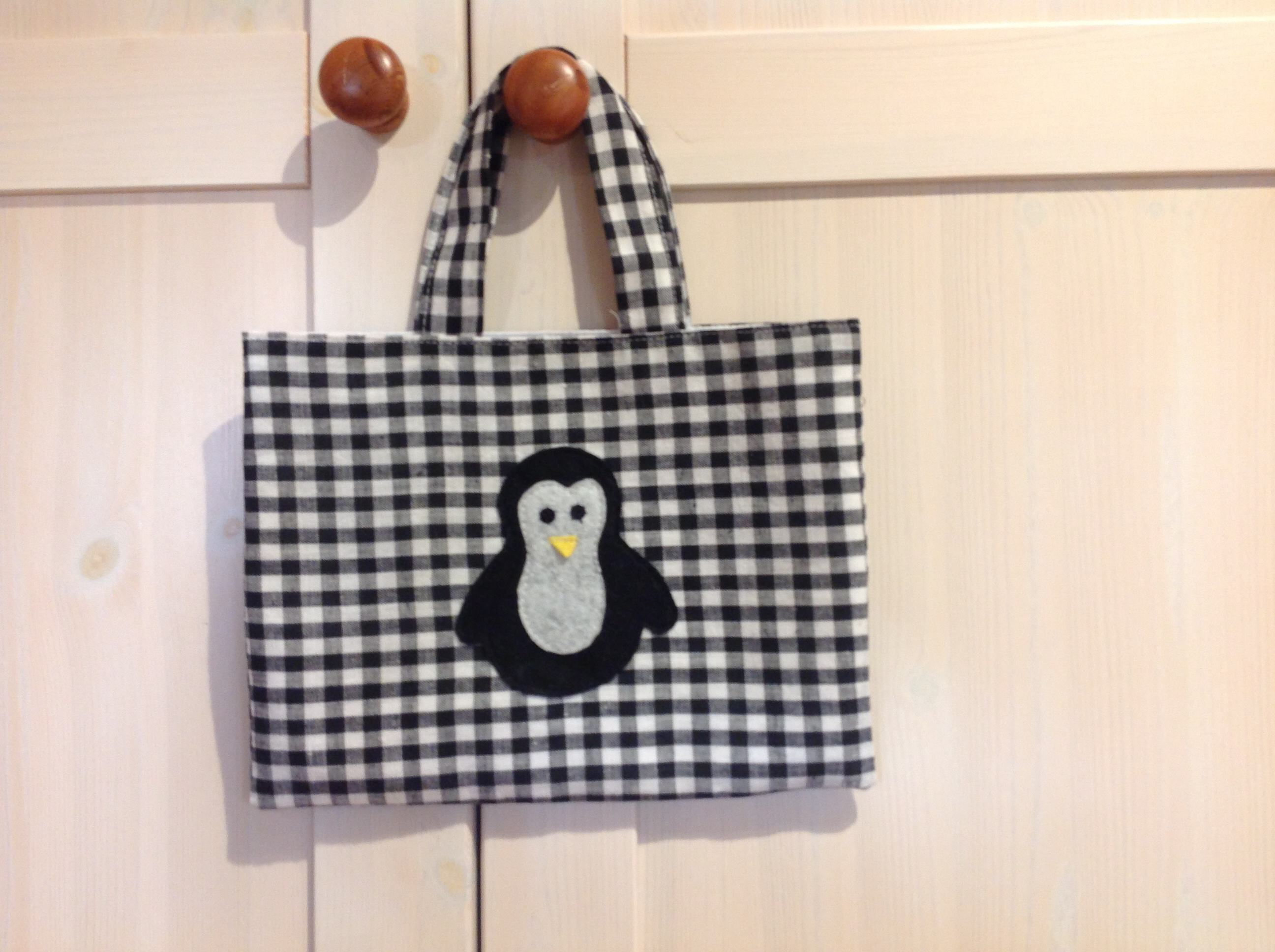 Childs Black & White Penguin Tote Bag