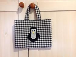Childs Black & White Penguin Tote Bag