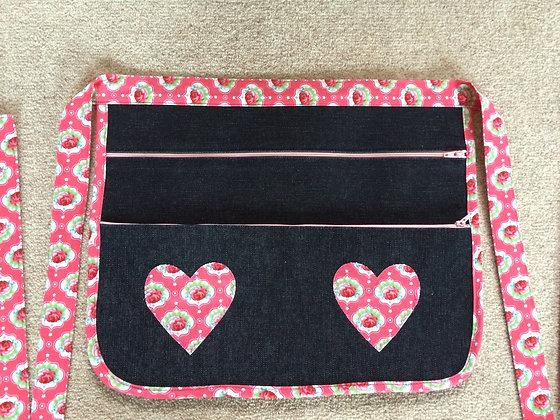 Boot/Craft Fair Money Belt/Bag Pink Hearts