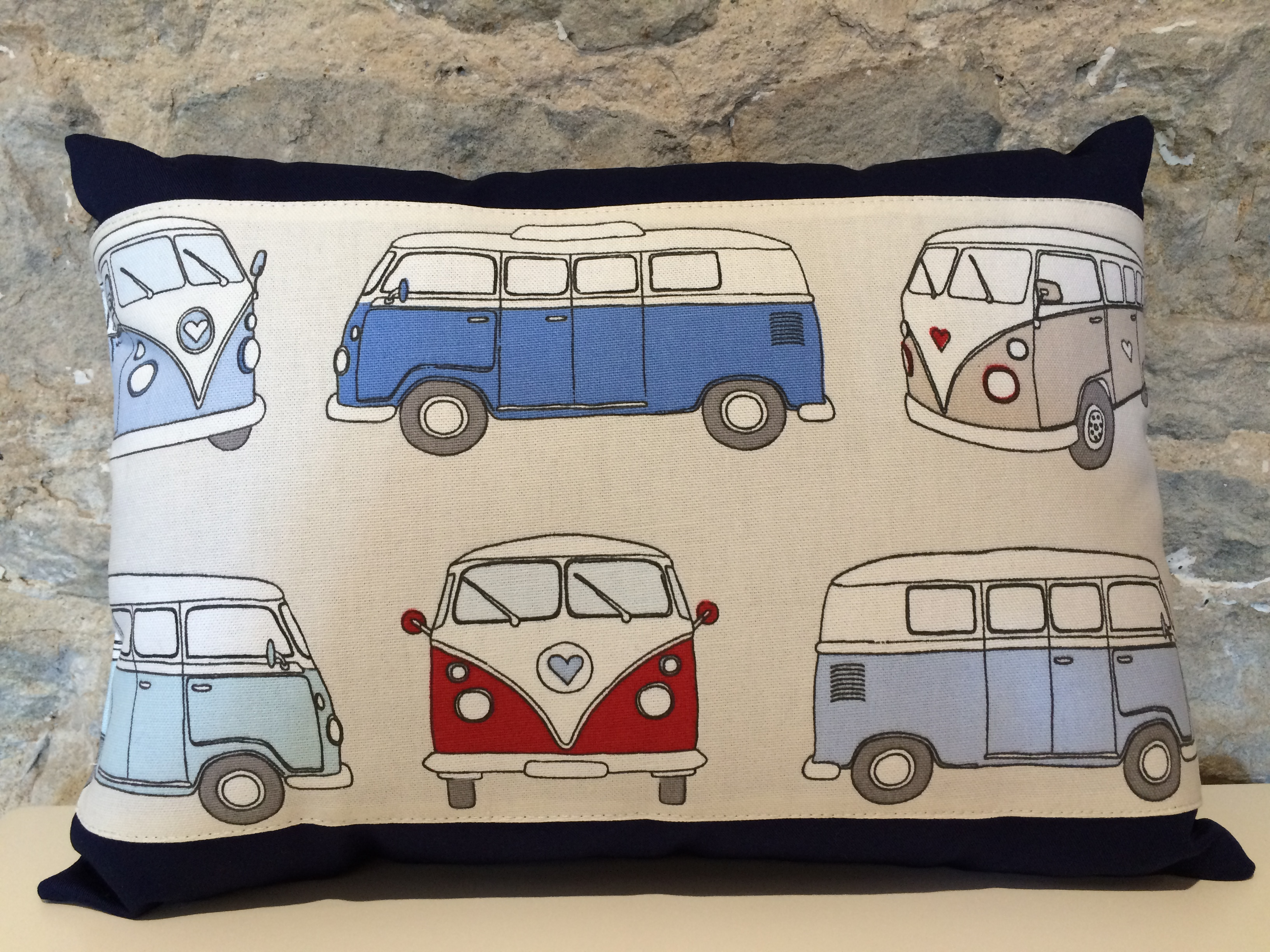 Blue Campervan Cushion