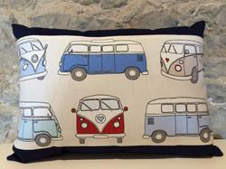 Blue Campervan Cushion