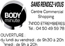 Body minute étrembières