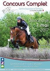 Affiche concours complet équitation