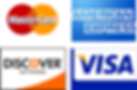 Master Card, Visa, American Express, Discover