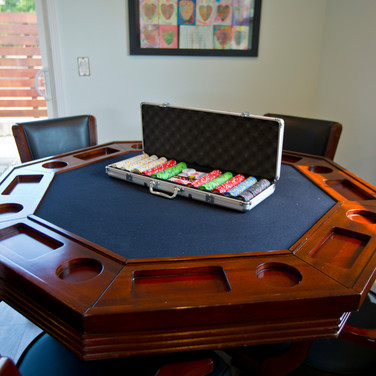 Pool house poker table