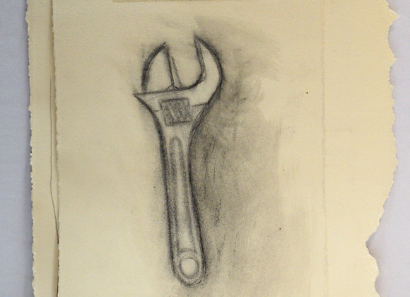 Study drawing, wrench - untitled 1
