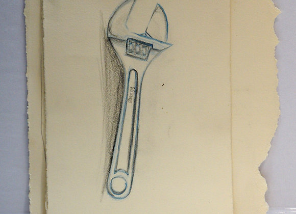 Study drawing, wrench - untitled 2