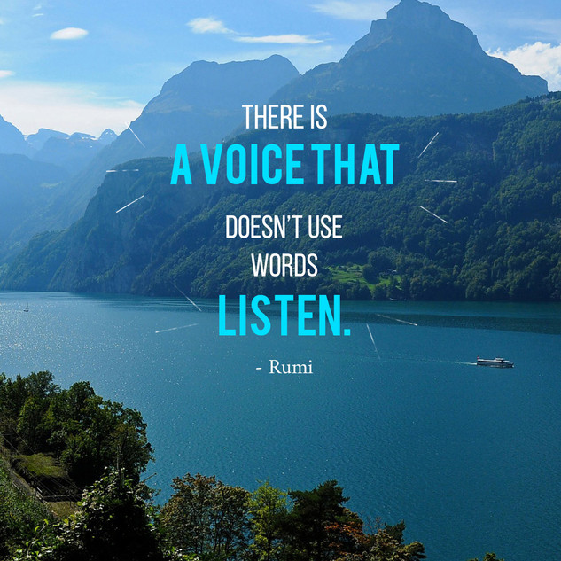 There is a voice