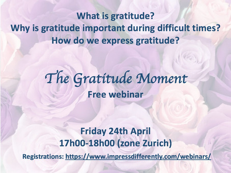 Come and experience the Gratitude with I-en on April 24th - free webinar