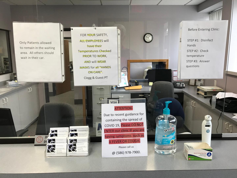 Patient temperature and questionare