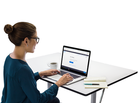 macbook-mockup-of-a-female-executive-at-