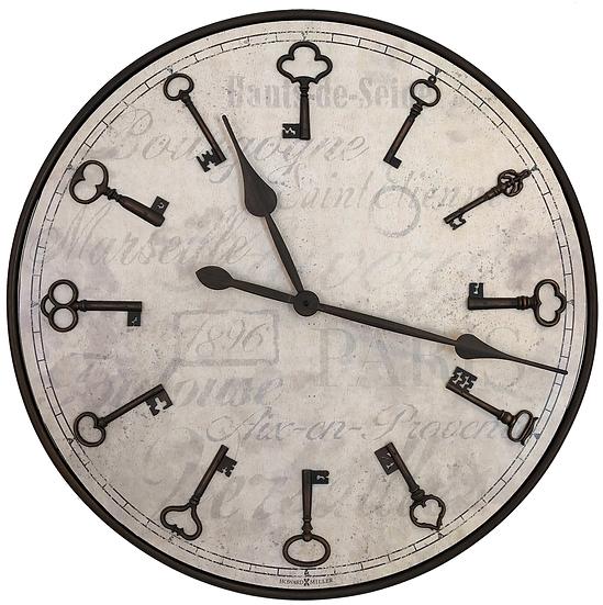 "Howard Miller 26"" Key design Quartz wall clock"