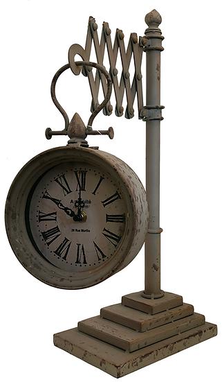 Antique style Scissor frame clock