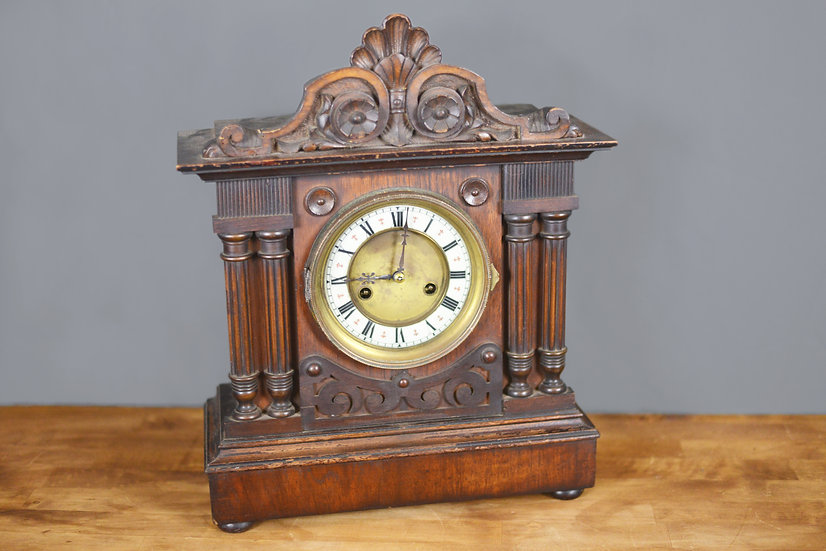 File and Cross Mantle Clock