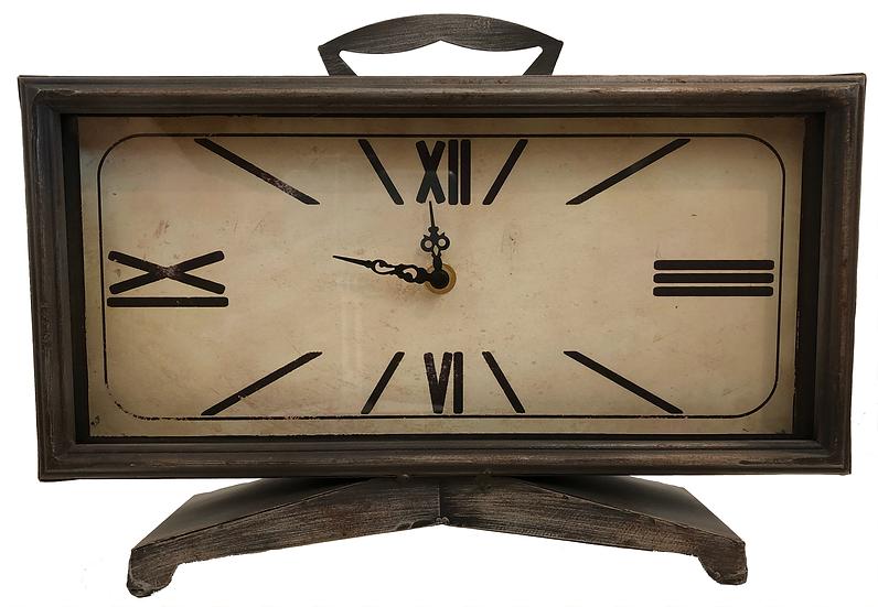 """12"""" Romal dial metal mantle clock"""