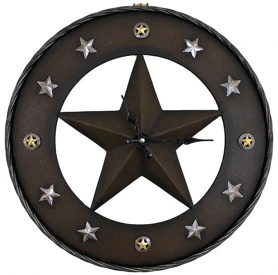 "Gift Craft Star wall clock  18"""