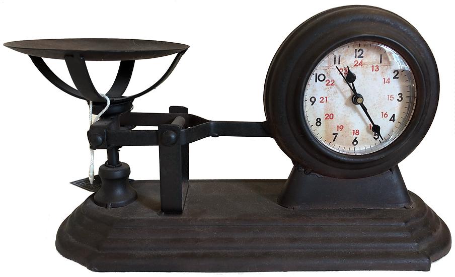 Small Metal Scale Quartz clock