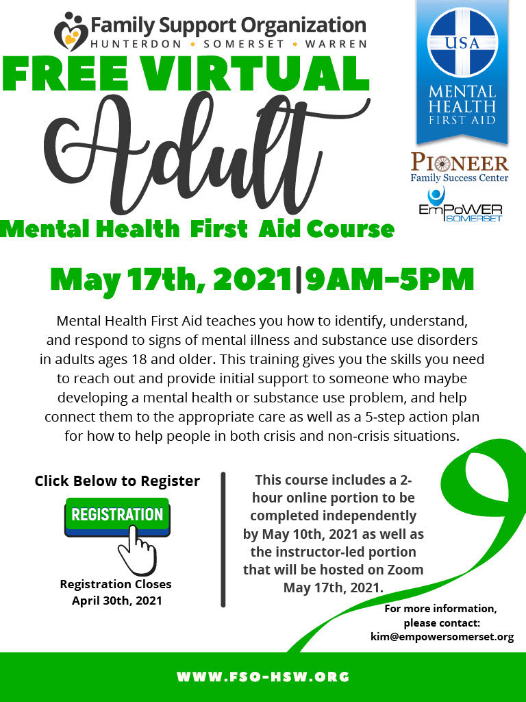 A Mental Health First Aid Flyer-May 17th