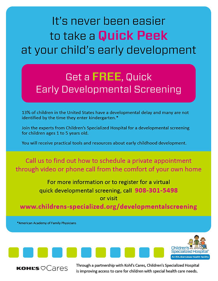 Telehealth Developmental Screening Flyer