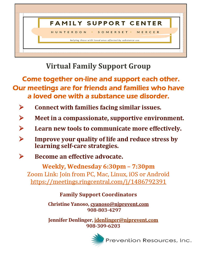 Virtual Family Meeting - Prevention Reso