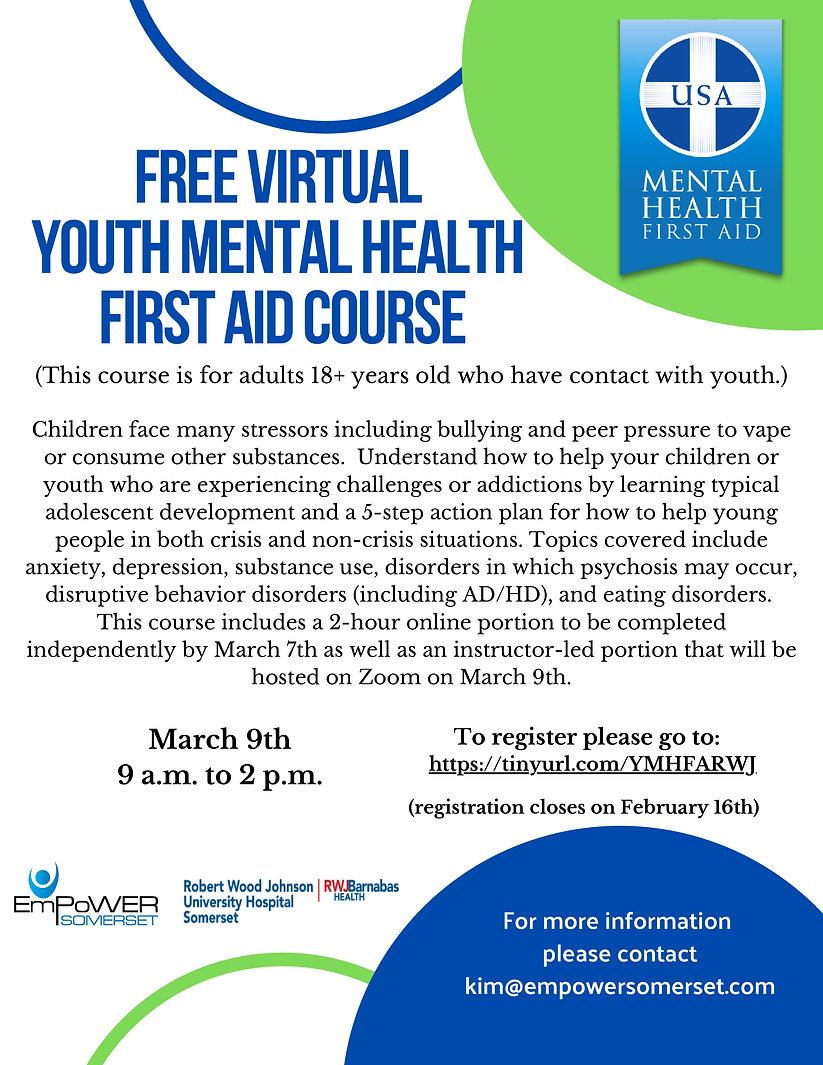 Virtual Youth Mental Health First Aid (5