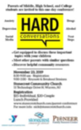 Hard Conversations Half Sheet Flyer Sing