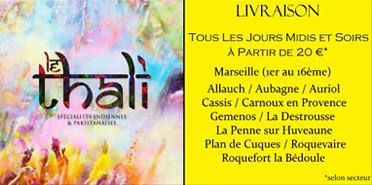Le restaurant le Thali vous propose des plats Indiens et Pakistanais à emporter sur Marseille la valentine et ses alentours.