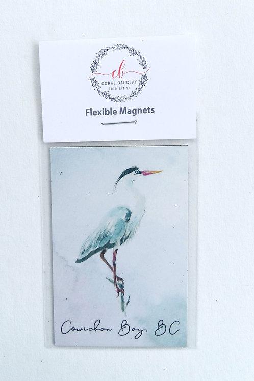 Heron, Flexible Magnet, Cowichan Bay