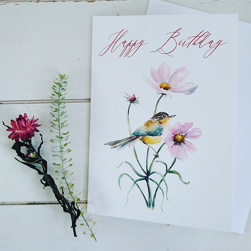 Happy Birthday Birdie in the Cosmos