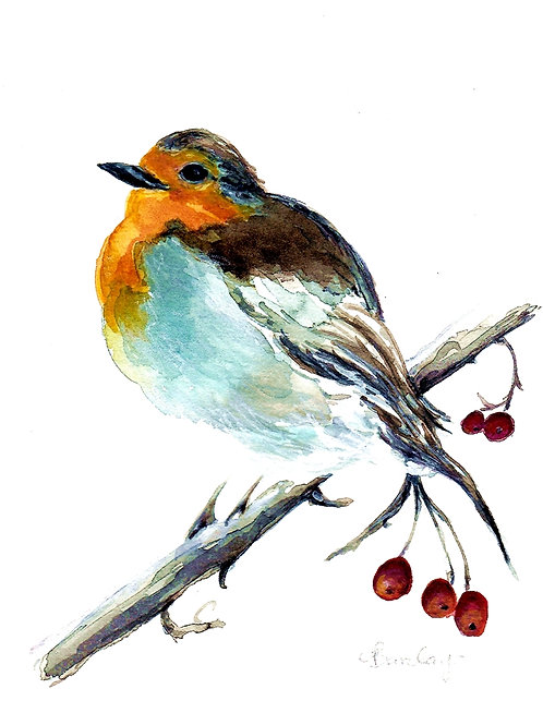Robin on a Branch SOLD