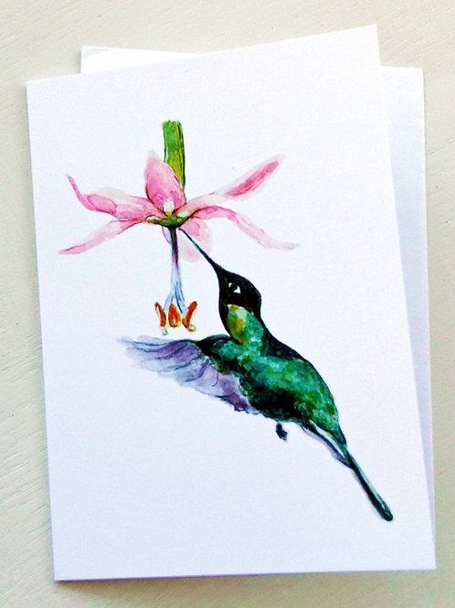 GREETING CARD, Hummingbird