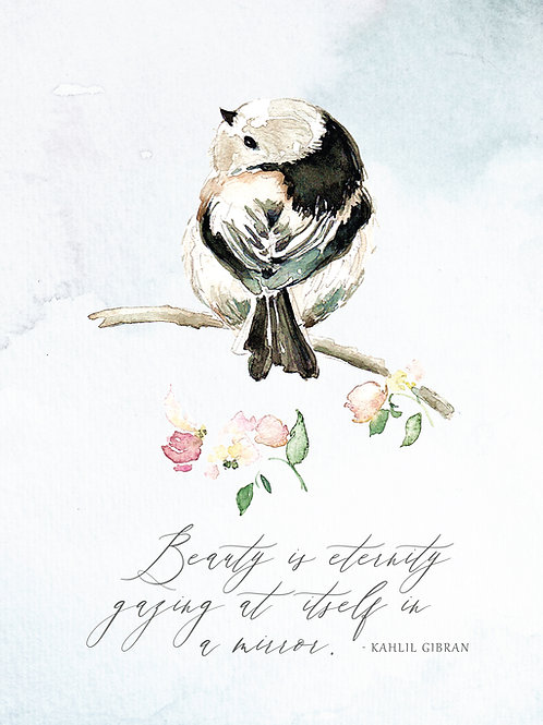 Cheeky Chickadee, Art Print
