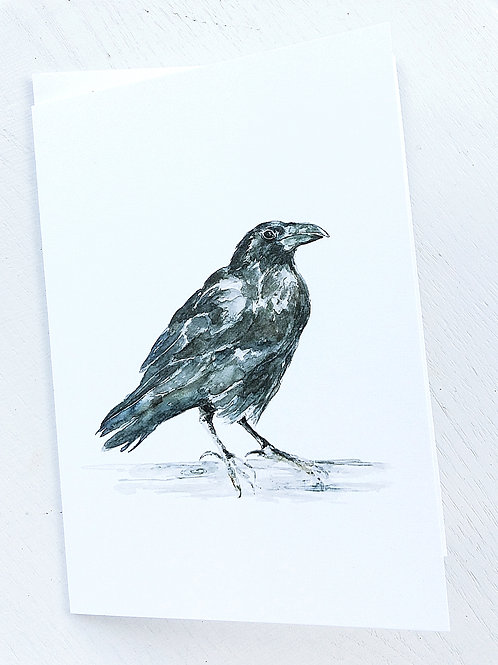 GREETING CARD, Raven SOLD OUT!