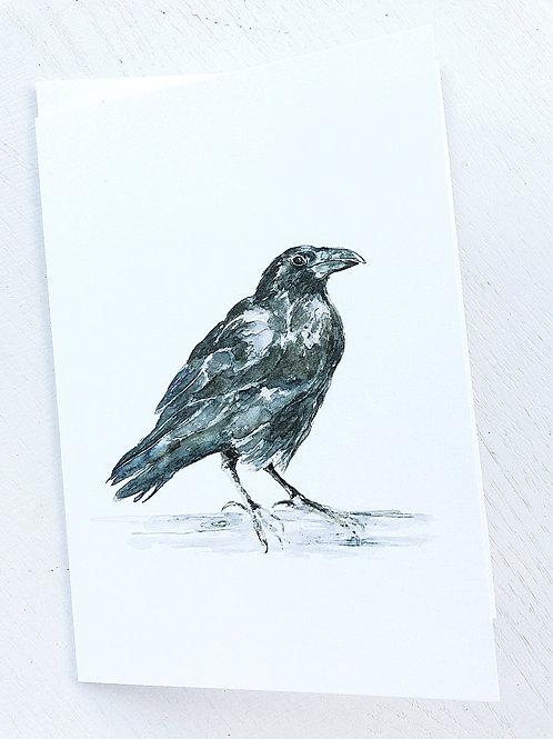 GREETING CARD, Raven