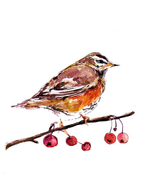 Little Bird on a Branch SOLD
