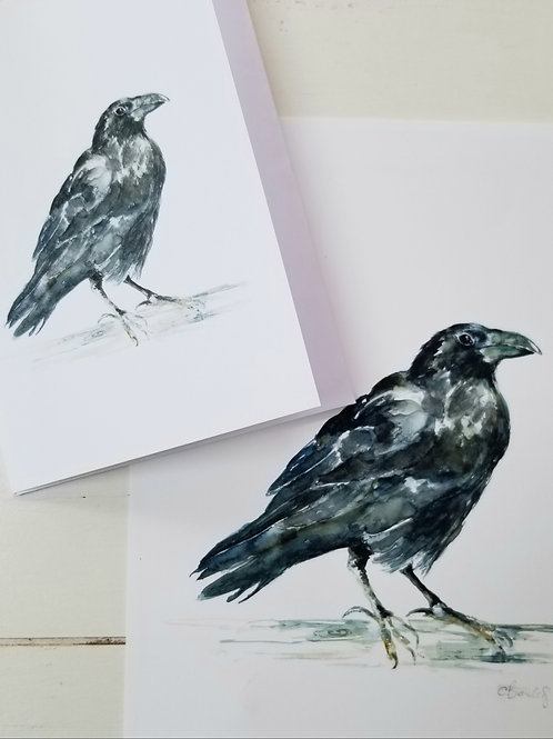 Raven Art Print and Greeting Card