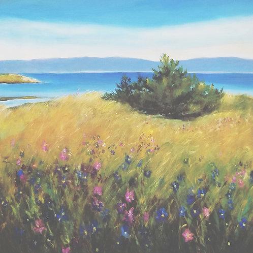 Island Wildflowers, original painting