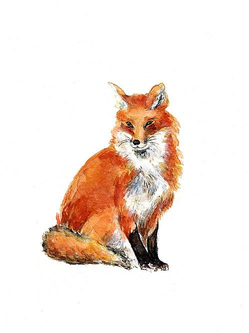"Foxy Fox, ART PRINT, 8"" x 10"""