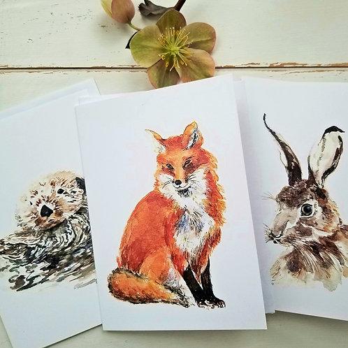 GREETING CARDS, Animals, Bundle of 3