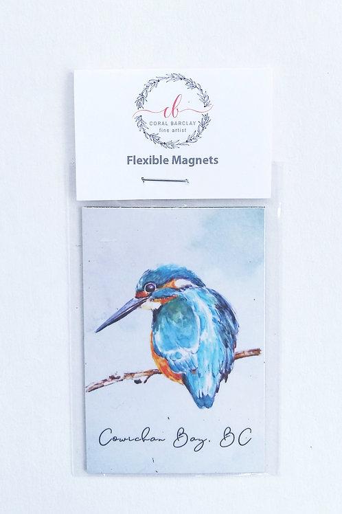 Kingfisher, Flexible Magnet, Cowichan Bay