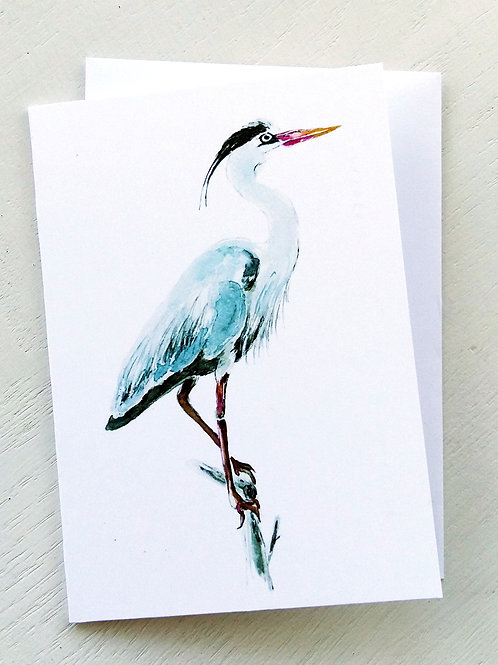NOTECARD, Heron, SOLD OUT!