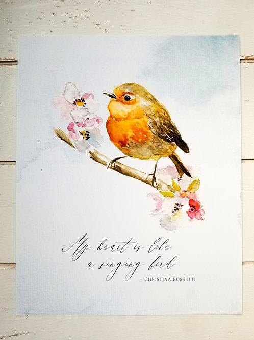 ART PRINT, Bird Song