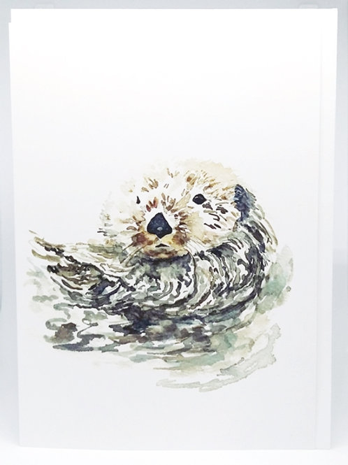 GREETING CARD, Otter