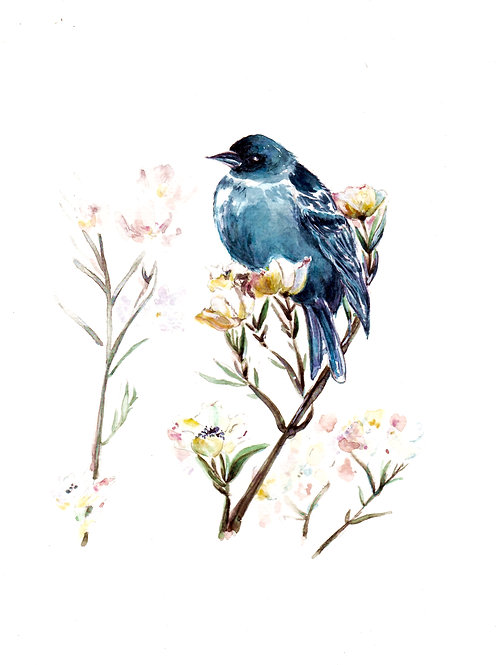 BlueBird in Blossoms SOLD