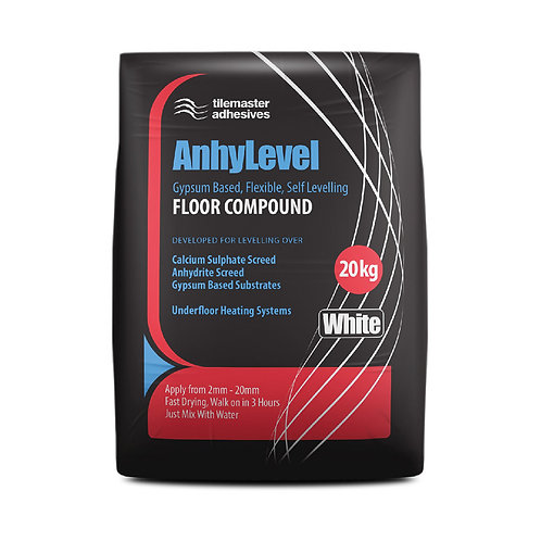 Tilemaster Anhylevel Gypsum Based Flexible Self Levelling Compound 20kg Full Pa