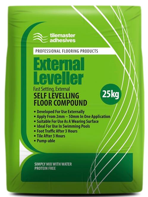 Tilemaster External Leveller Fast Set Self Levelling Compound Full Pallet 40 bag